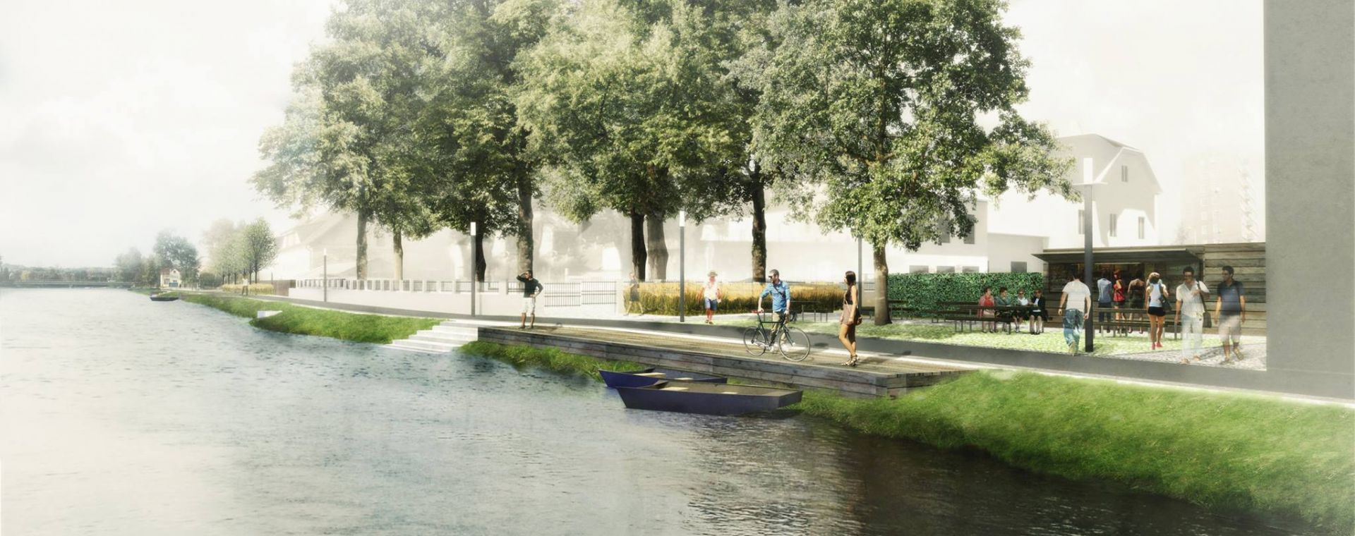 Architectural competetion, Planá nad Lužnicí - riverside, 03/2015, CZ - 2nd place