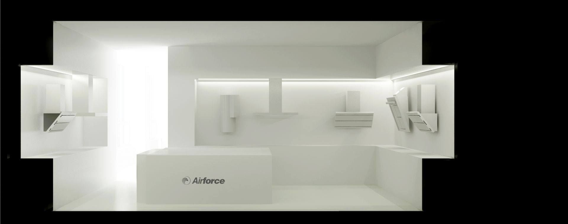 showroom Airforce - architectural study and realization