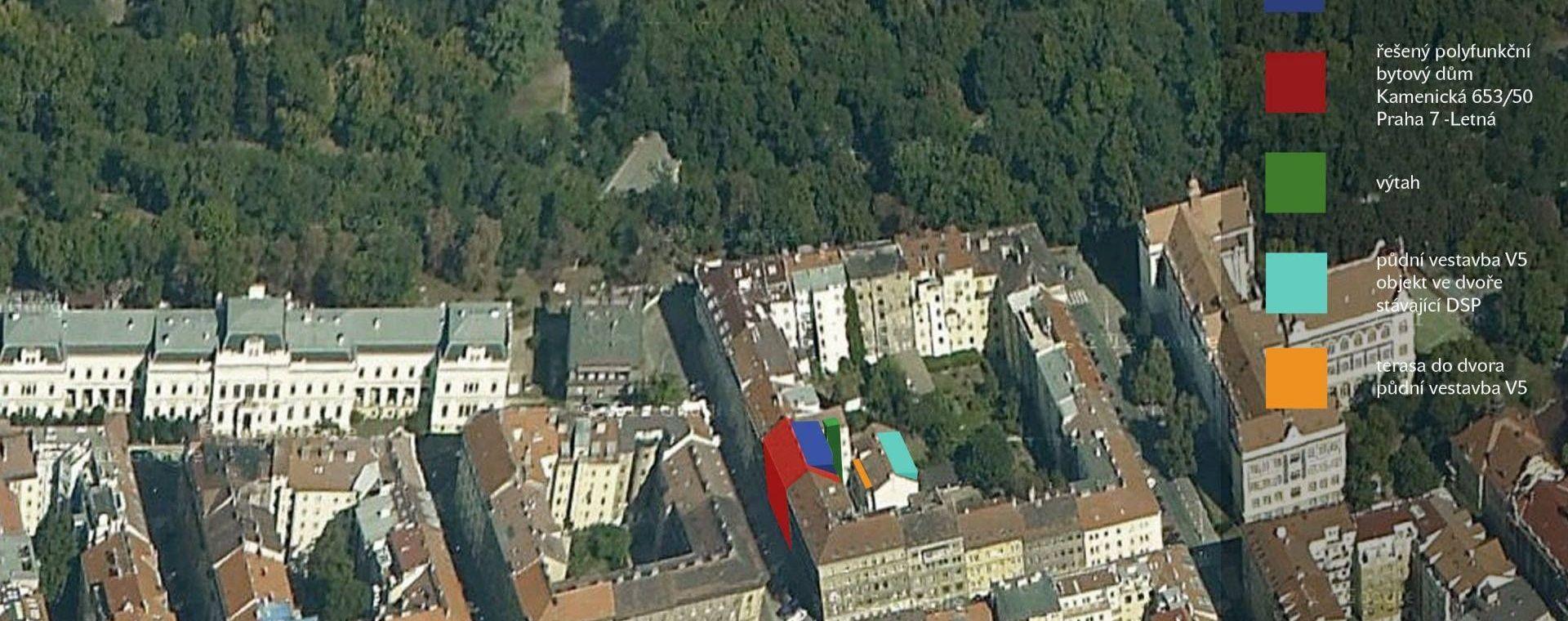 Rekonstrukce bytů B v ulici Kamenická - vnitroblok, Praha 7, 2012-2015, CZ