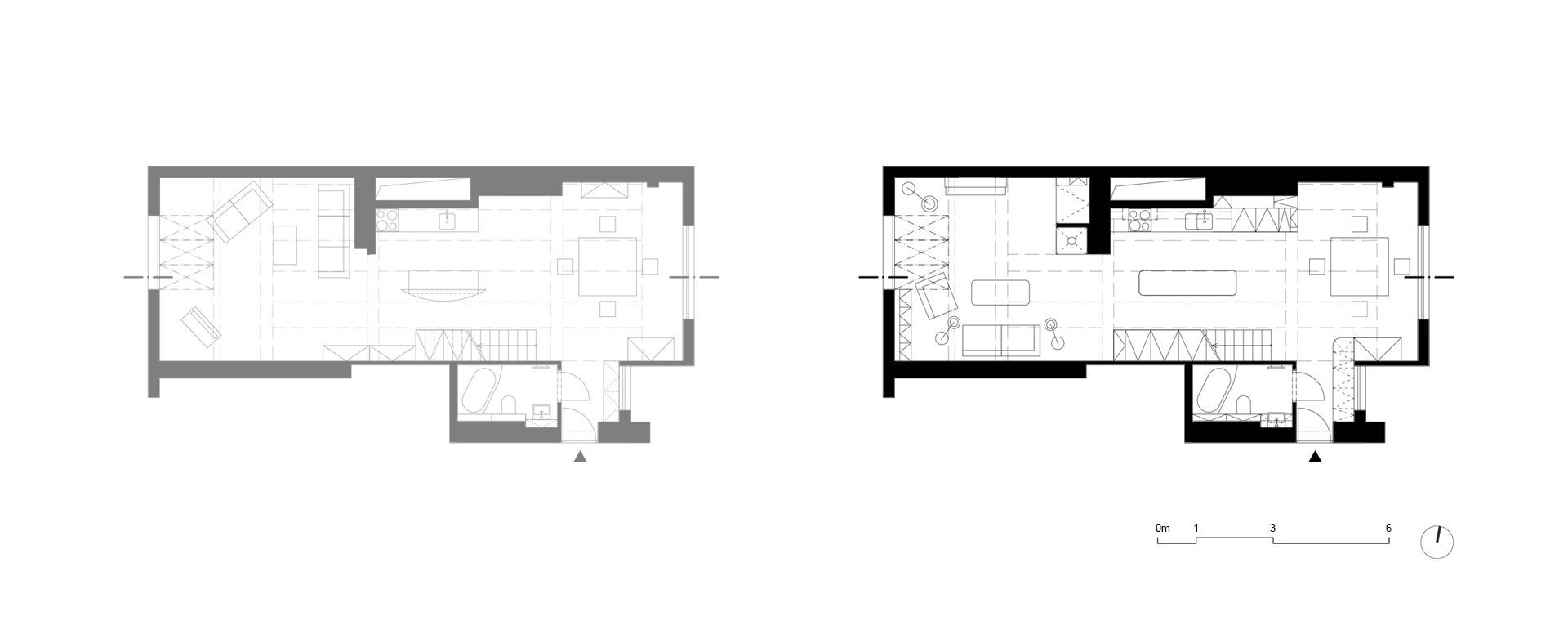 Scheme of changes of the first floor of the apartment