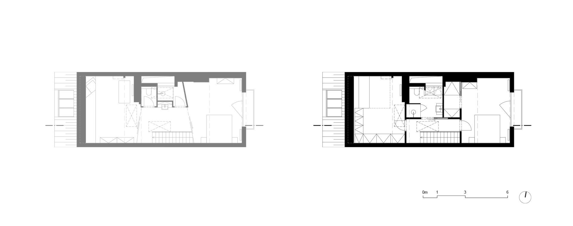 Scheme of changes of the second floor of the apartment
