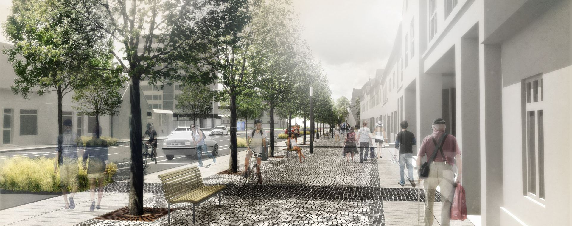 Revitalization of the city centre Planá nad Lužnicí - architectural competition 1st place