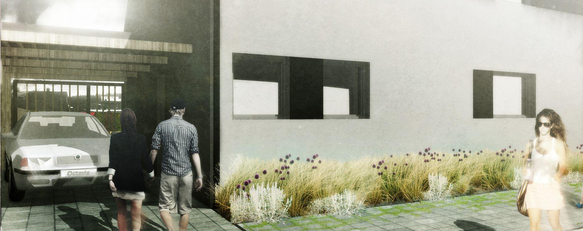 Návrh zahrady rodinného domu ve Žďáře nad Sázavou, 2014, CZ