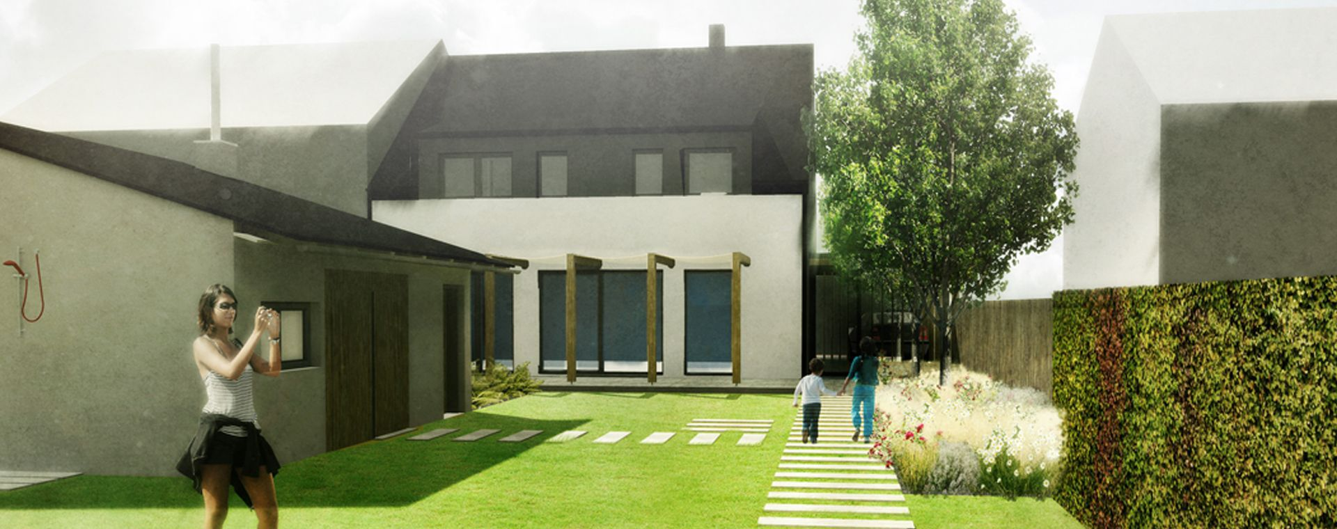 The concept of the garden for family house in Žďár nad Sázavou, 2014, CZ