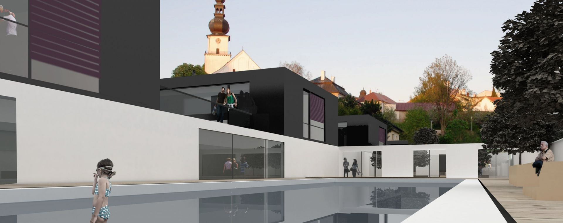 The city spa and wellness Žďár nad Sázavou, concept, 2012, CZ