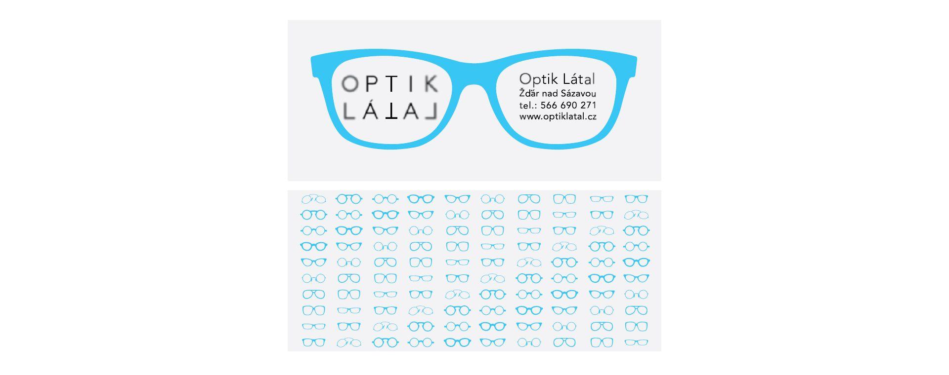 Graphic design of glasses case for Optik Látal