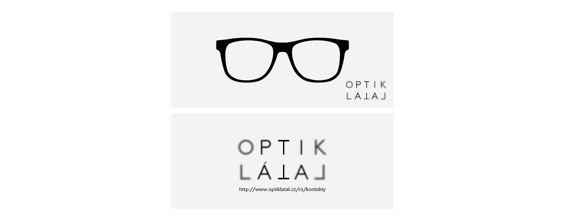 Graphic design of glasses case for Optik Látal