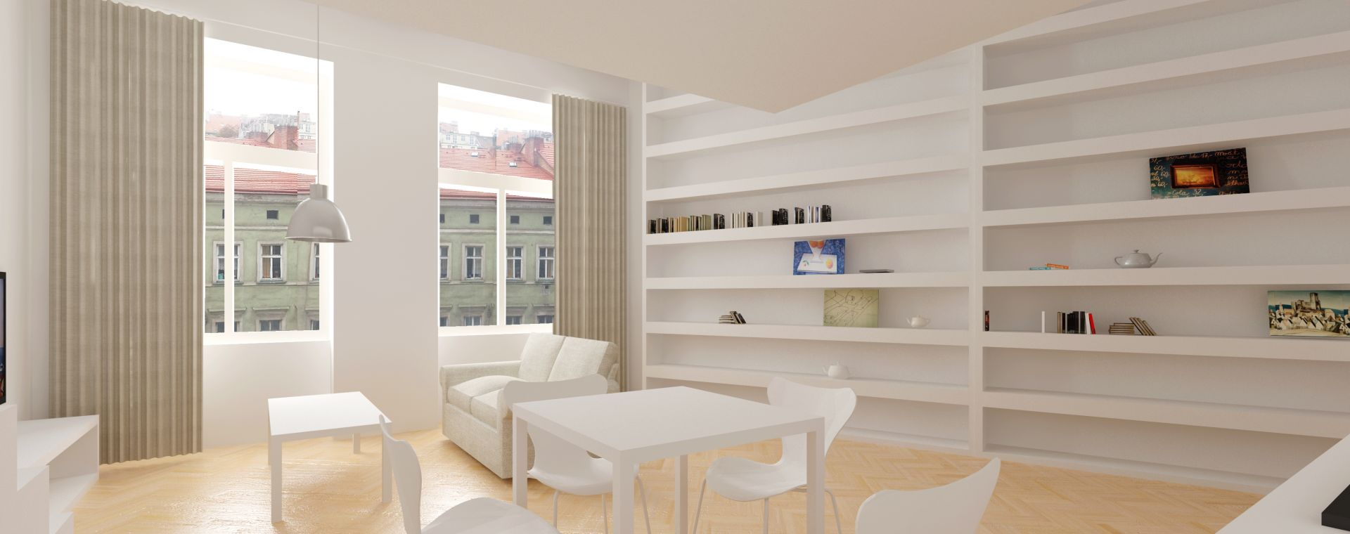 Reconstruction of the flat 2+1, 3th and 4th floor, Prague 7, 2012-2014, CZ