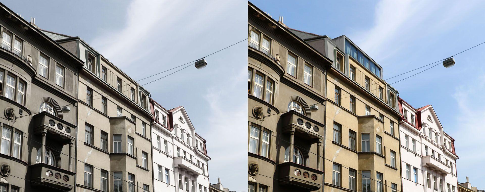 Adaptace podkroví na mezonetový byt, Milady Horákové, Praha, 2014, CZ