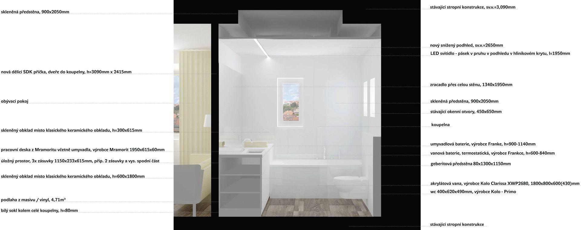 Bathroom Veleslavín, Praha 6, 2014, CZ