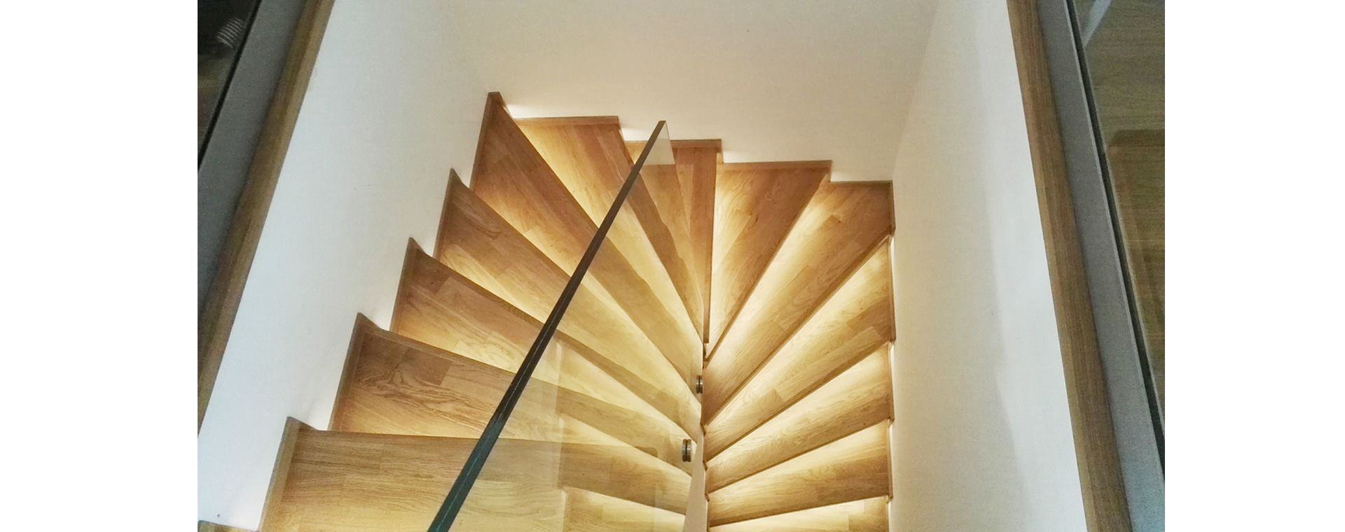The architectural concept and realization of the stairs, Prague 6, lighting design, CZ