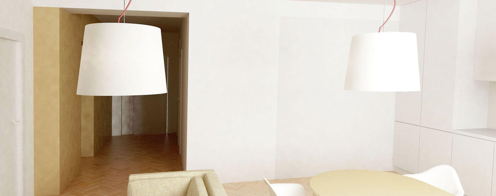 Reconstruction of two bed apartment and the attic, Veselská, Žďár nad Sázavou, 2014, CZ