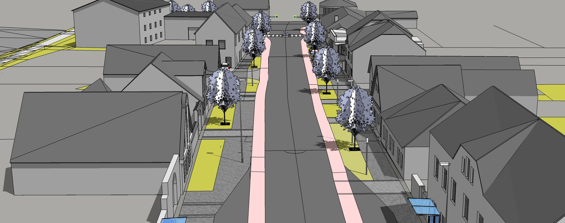 Revitalization of the street Českovenské armády, Plana nad Luznici, 2016-2018, CZ