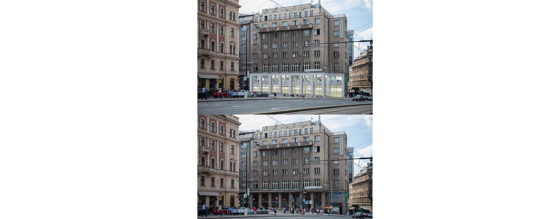 Architectural concept for the subway and parter renovation, I.P.Pavlova, Prague 2, Prague 2 07/2017, CZ
