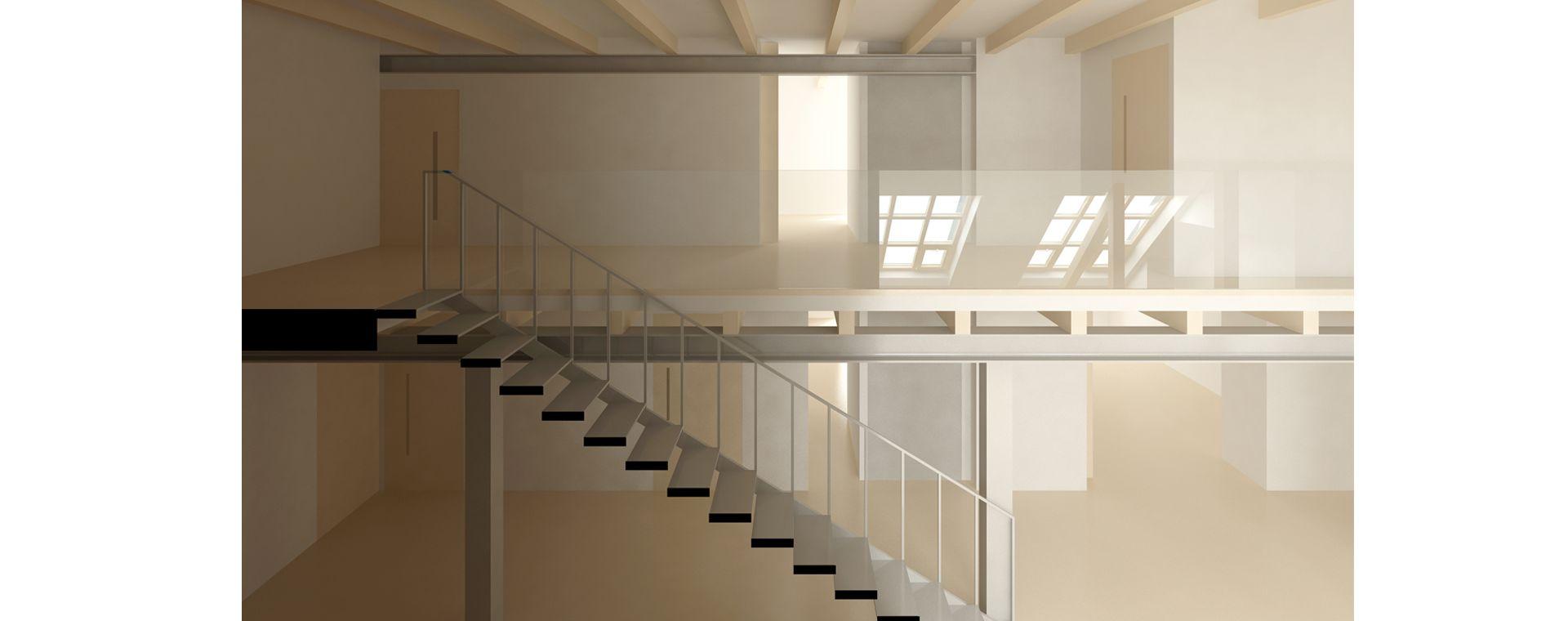 Návrh studie duplexu a realizace na Praze 7 s výtahem, duplex, mezonet, loft, Korunovační, Praha 7, 2017-2020, CZ