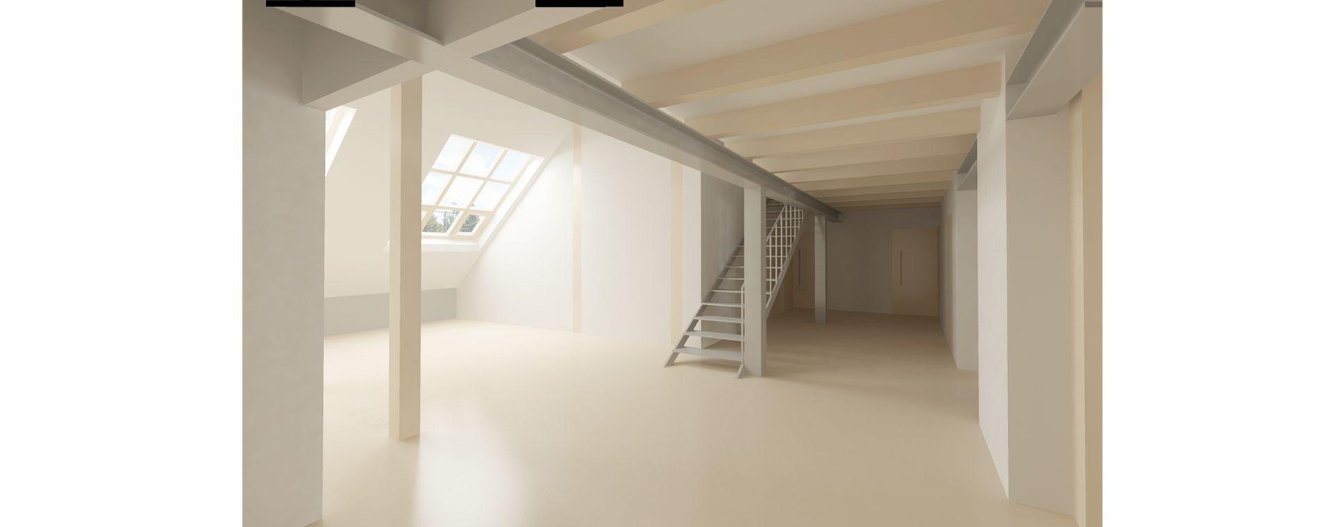 Duplex project renovation /maisonette / mezonet / loft and realization with elevator, Korunovační, Prague 7, 2017-2020, CZ
