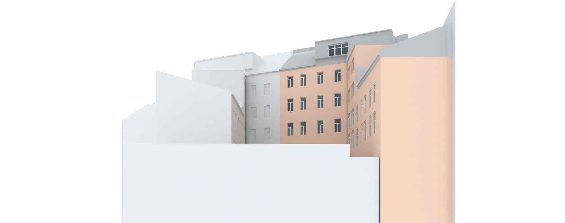 Attic adaptation of the roof to apartment to get duplex/maisonette/mezenet, Milady Horakove, Prague, 2014, CZ