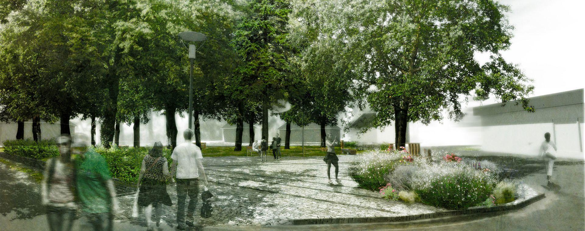Urban square in Cardice, SK.
