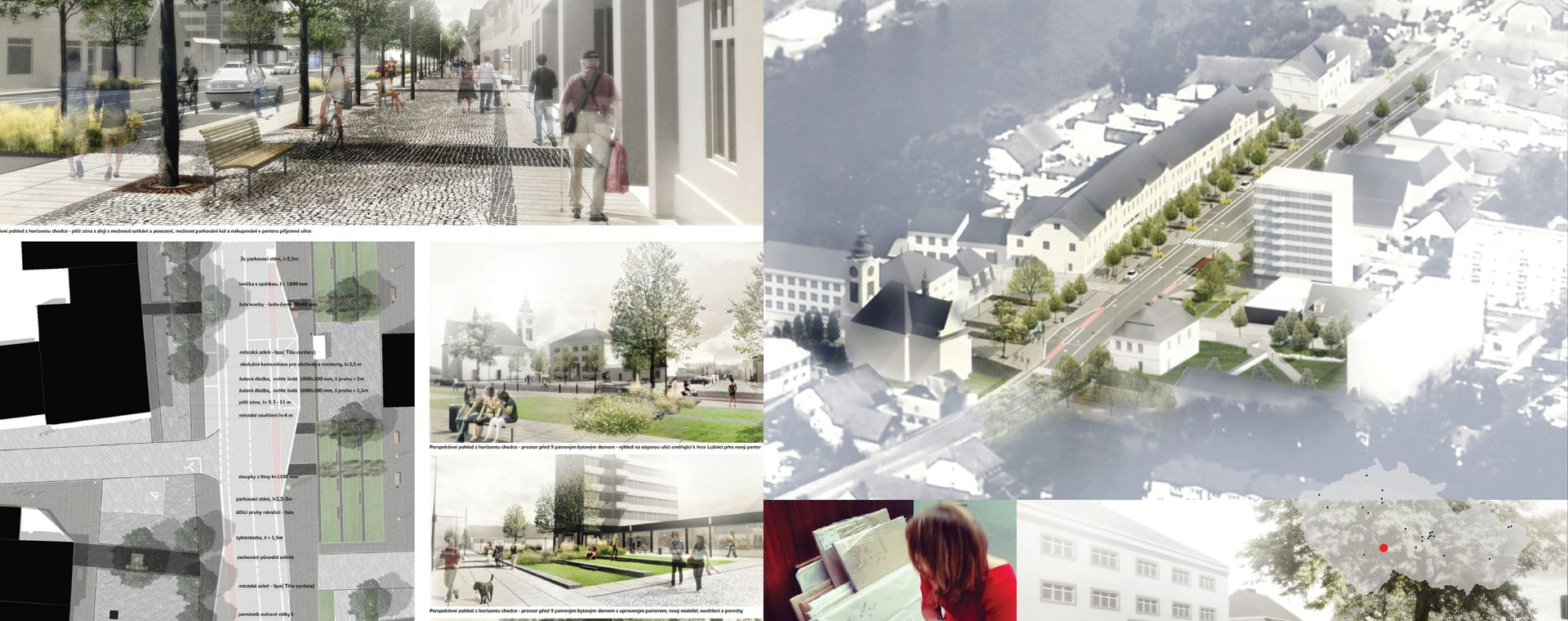 Architektonická soutěž o návrh revitalizace centra města Planá nad Lužnicí, 2014, CZ - 1.místo - příprava realizace pro 2014-2018