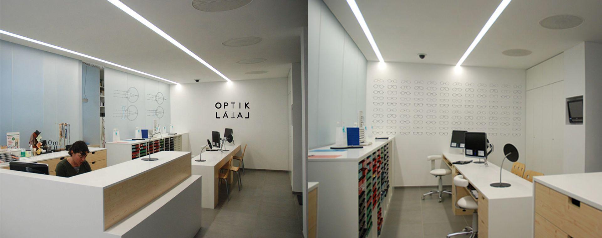 Reconstrution of the optician store and optician factory in Žďár nad Sázavou, region Vysočina, 2011-2013, CZ