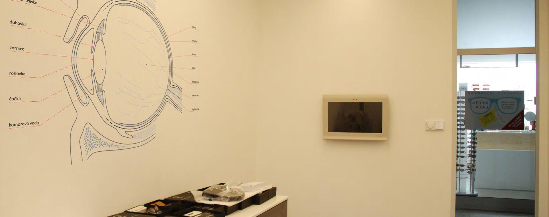 The optician store and optician check room, Žďár nad Sázavou, 2011-2013, CZ