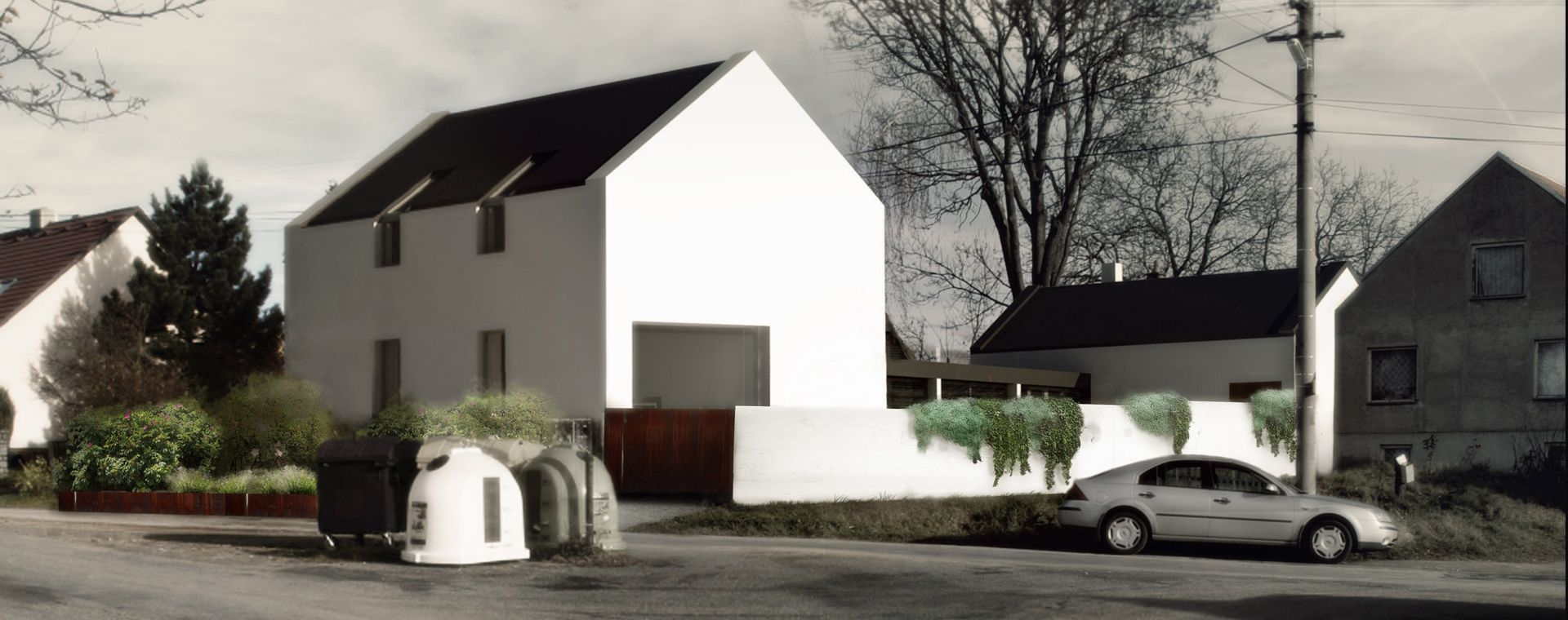 Garden for education centre with wellness, Stanoviště, South Moravia, 2012, CZ