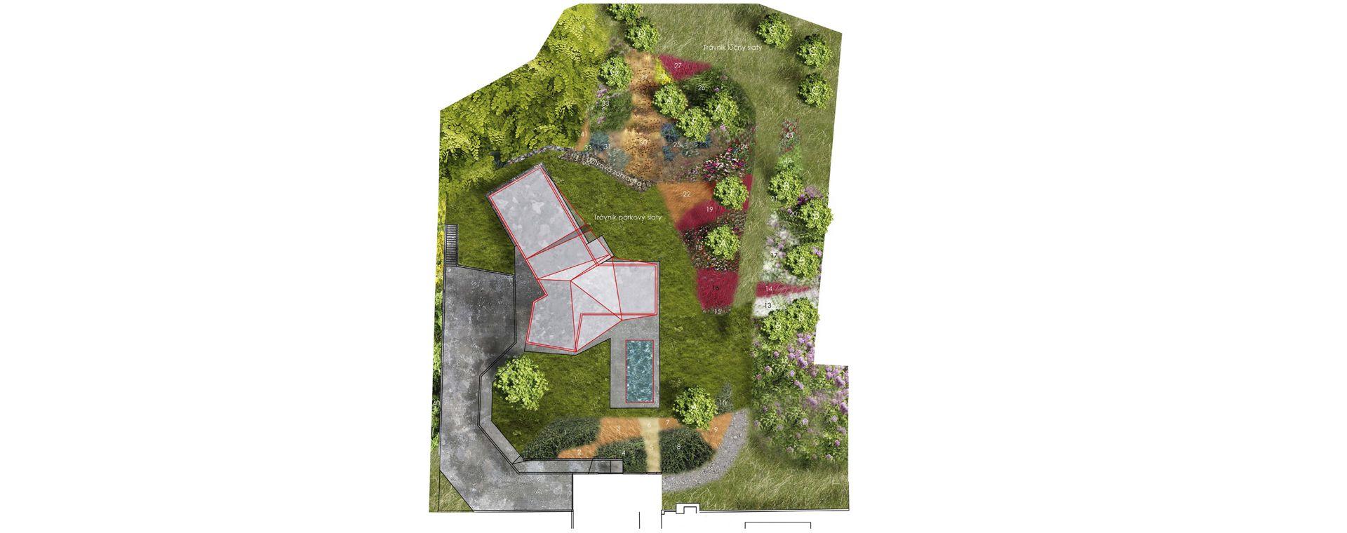 Garden Záhorská Bystricka, concept, SK