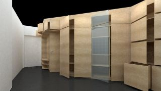 Studio project of an entrance wardrobe for an apartment Prague 9 Prosek, Prague, 2012-2014, CZ
