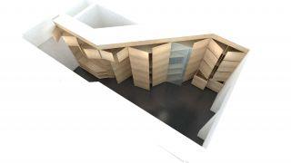 Studio project of an entrance wardrobe for an apartment Prague 9 Prosek, Prague, 2012-2014, CZ