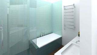 The concept of the bathroom for the flat in Prague - Modřany, 2013-2014, CZ