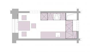 Návrh kuchyně pro rekonstrukci bytu v Praze - Modřany, 2013-2014, CZ