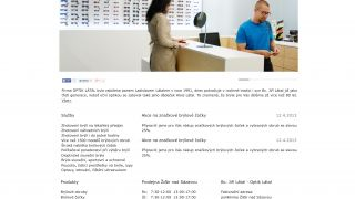 Webdesign - Optician Látal - prezentace