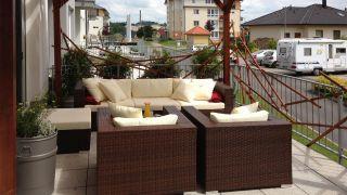 Terrace for an apartment in Zdar Nad Sazavou, CZ.