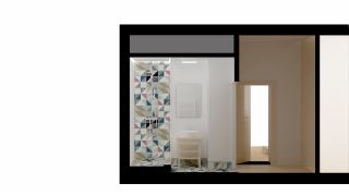 The concept of the bathroom for the flat in Prague - Podolí, 2013-2014, CZ