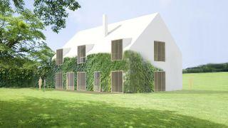 The concept of the family house with a layer office in Hamry nad Sázavou, region Vysočina, 2013-2014, CZ