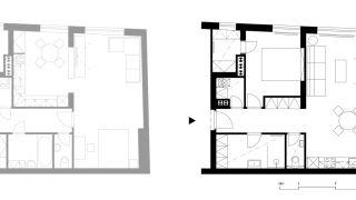 Rekonstrukce bytu 1+kk na Náměstí republiky, Žďár nad Sázavou, 2013-2014, CZ