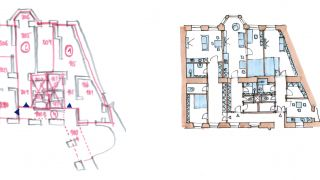 Design concept of 3 apartments - Milady Horákové, 2014, CZ