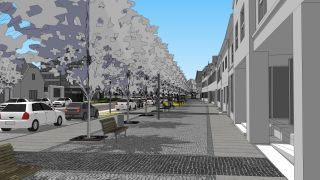Architectural competetion - The city revitalization of Plana nad Luznici, South Bohemia, 2014, CZ - 1.st place - we prepare realization for 2014-2018
