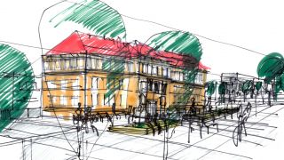 Revitalization and reconstruction of the square of Edvard Beneše in Kladno, 1st place, 2015-2018, CZ