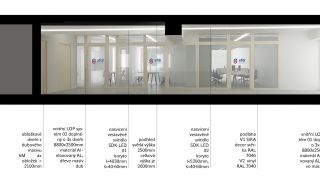 The reconstruction of the SFDI and SŽDC office building in Prague 9 - an architectural concept, study, Prague - 1st place , 08/2017, CZ