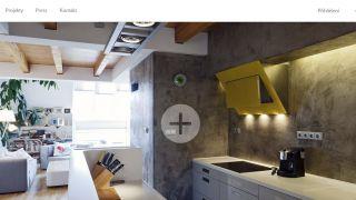 Webová stránka pro Atelier Vltava