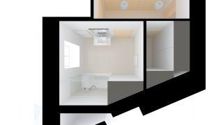Studie koupelny do bytu v Praze - Milady Horakové, CZ