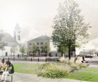 Atelier Vltava vyhrál tendr na realizaci náměstí v Plané n.L. mezi 2014-2018, Planá nad Lužnicí, 10/2014, CZ