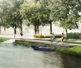 Planá nad Lužnicí vyzvala Atelier Vltava k účasti v tendru na nábřeží, 04/2015, Planá nad Lužnicí, CZ