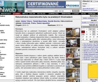 Atelier Vltava mezonet project published Archiweb.cz, Archiweb, 04/2014, CZ