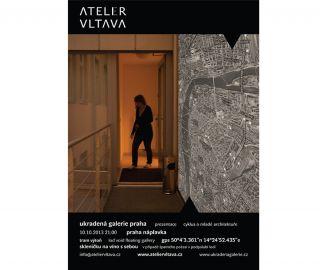 Pozvánka na veřejnou prezentaci Atelieru Vltava v rámci Ukradené galerie#ukradenagalerie