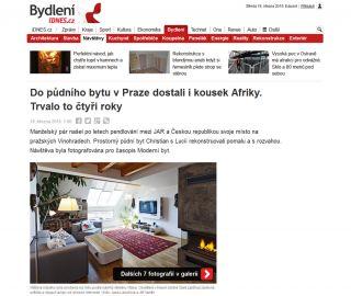 Atelier Vltava at iDnes.cz, 03/2015, CZ