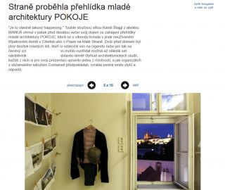 Atelier Vltava Ltd. in Economic news - art section 21/10/2013
