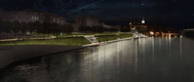 The city of Písek and Atelier Vltava have a a new agreement about next progress in the riverside project in old town