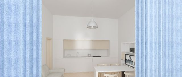 Reconstruction of the flat 2+kk in polyfuctional block of flat, Prague 7 - Letná, Prague, CZ